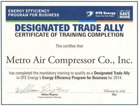 Announcements - Metro Air Compressor - award