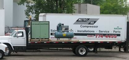 Compressor Maintenance Monroe MI - Metro Air Compressor - truck